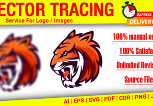 6533I will vector tracing logo, vectorize image, convert to vector