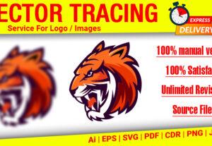 I will vector tracing logo, vectorize image, convert to vector